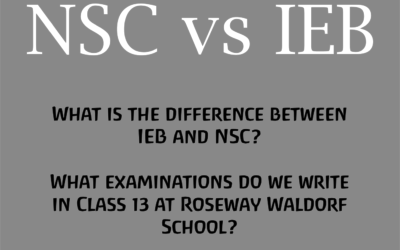 What is the difference between IEB and NSC? What examinations do we write in Class 13 at Roseway?