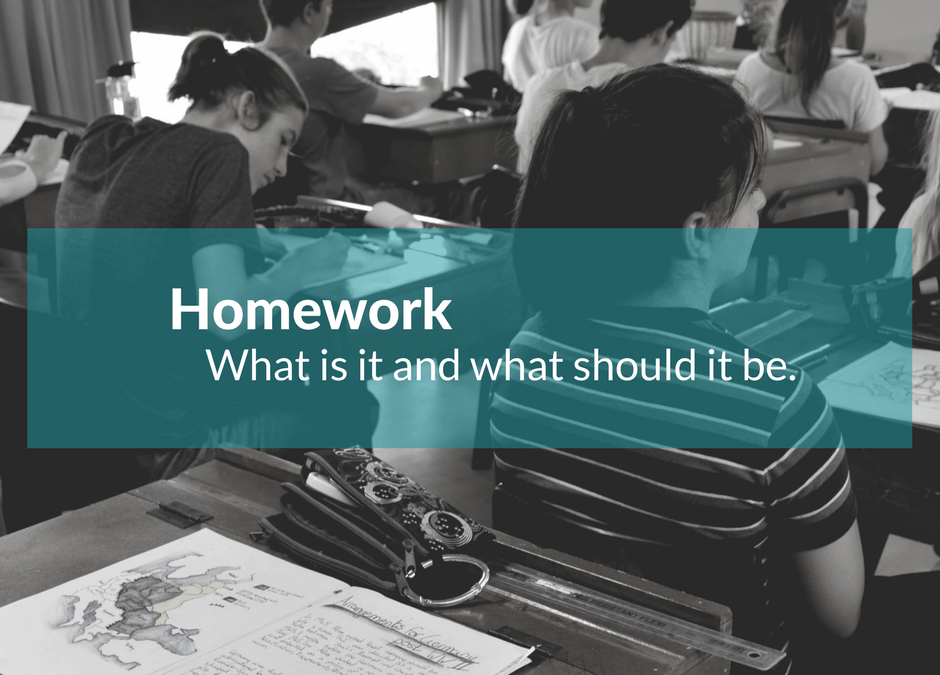 Homework – What it is and what it should be.